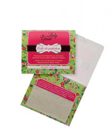Lady Green Voile De Perfection - Oil blotting paper green tea