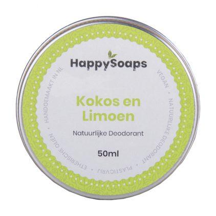 Happysoaps Natuurlijke Deodorant – Kokos En Limoen