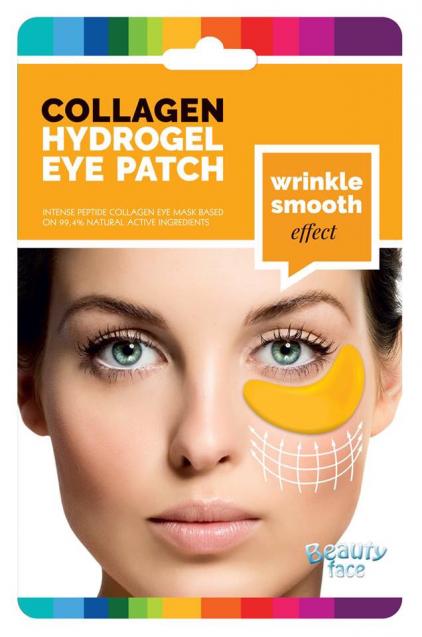 Beautyface 24 Karaat Goud & Hyaluronzuur Anti Rimpel Collageen Vlies Oogmasker